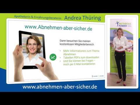 Abnehmen aber sicher Kurzfassung Andrea Thuering Apothekerin Ernaehrungsberaterin Schweinfurt